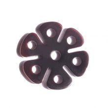 tab shell 6-petal flower wholesale pendant