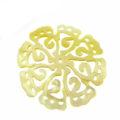 MOP carved 8-petal 35mm wholesale pendant