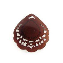 blackpen carved petal wholesale pendant