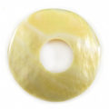 MOP donut 35mm plain wholesale pendant