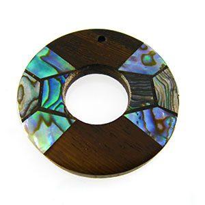 donut paua and robles wholesale pendant