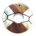 Blacklip/robles donut wholesale pendant