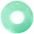 Capiz 46mm donut light green