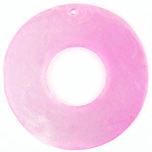 Capiz 46mm donut light pink