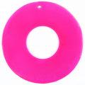 Capiz shell 46mm donut pink wholesale