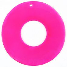 Capiz shell 46mm donut pink wholesale
