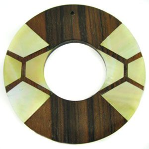 wood donut tiger ebony w/ MOP inlay wholesale