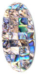 Paua purple block oval 44mm wholesale