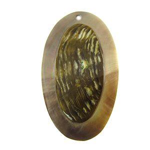 Blacklip 47mm oval embossed wholesale