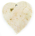 Green shell w/ skin heart wholesale pendant