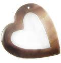 Tab shell heart side hole wholesale pendant