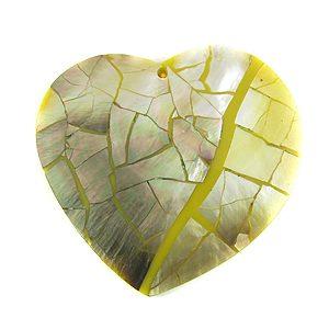 Blacklip broken heart cracking wholesale pendants