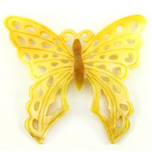 "Carved Mother of Pearl Shell ""Butterfly"" Pendant"