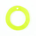 "Hammer shell ""O"" Ring Yellow Green 20mm"