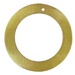 "Gold ""O"" Ring Hammer shell Hoop Pendant 45mm"