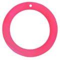 """Light Red """"O"""" Ring Hammer shell Hoop Pendant"""