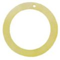 "Slight Yellow ""O"" Ring Hammer shell Hoop Pendant"