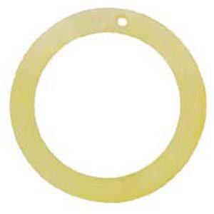 "Slight Yellow ""O"" Ring Hammer shell Hoop Pendant"