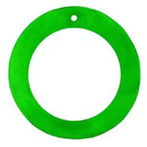 "Silver Green Hammer shell ""O"" Ring Shell Bead"