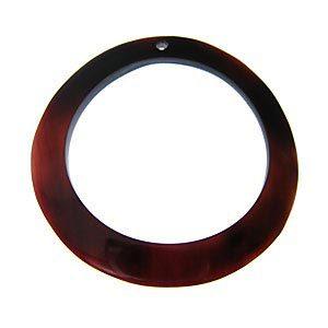 Tab Shell Hoop Pendant 45mm