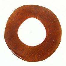 Capiz Shell Irregular Donut 50mm - Brown