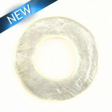 Capiz Shell Irregular Donut 50mm - Natural