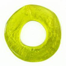 Capiz Shell Irregular Donut 50mm - Olive green