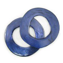 Capiz Shell Irregular Donut Electric Blue