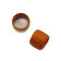 Tan Brown Laminated Shell Capiz Ring Beads