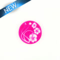 Makabibi Round 20mm Flower Laser Design Pink