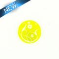 Makabibi Round 20mm Flower Laser Design Yellow