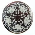 Black Pen Shell Silver Star Design Laser Engraved Pendant