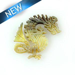 Blacklip Laser cut pendant dragon wholesale