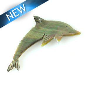 Blacklip Laser cut pendant dolphin wholesale