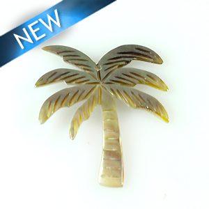 Blacklip Laser cut pendant palm tree des. 35mm