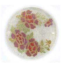 Lilac Rose Round Laminated Natural Capiz Shell Pendant