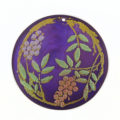 Violet Round Laminated Capiz Shell