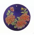 Violet Round Laminated Capiz Shell Lilac