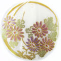 Daisy Flower Design Round Makabibi Shell Pendant