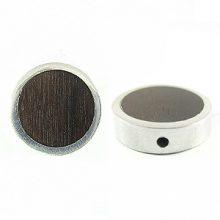 Black Ebony Round frame 19mm wholesale pendant