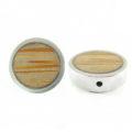 Palmwood Round frame 19mm wholesale pendant