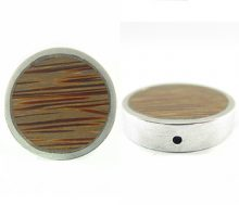 Round Metal Framed Palmwood Pendant wholesale