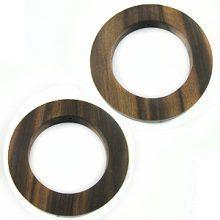 tiger ebony rings 46mm w/ 30mm ID X 6mm
