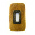 Nangka rectangle design 45x25mm / A-brass