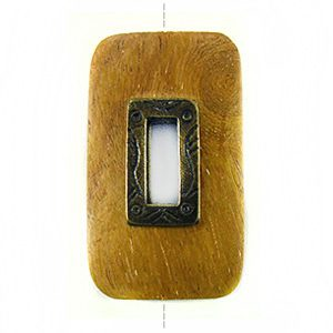 Nangka rectangle design 45x25mm / A-brass