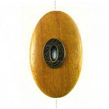 Nangka oval 45x25mm / A-brass metal