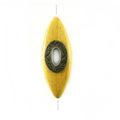 Nangka Elongated Oval design 40x15mm /A-Brass