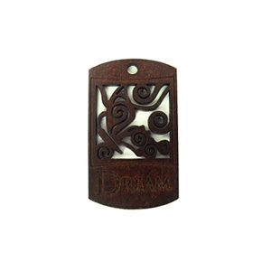 wooden charm stained-dream 43mmx25mm