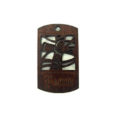 wooden charm stained-faith 43mmx25mm