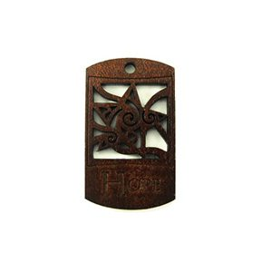wooden charm stained-hope 43mmx25mm